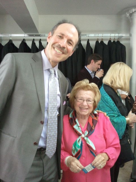 Eli with Dr. Ruth Westheimer