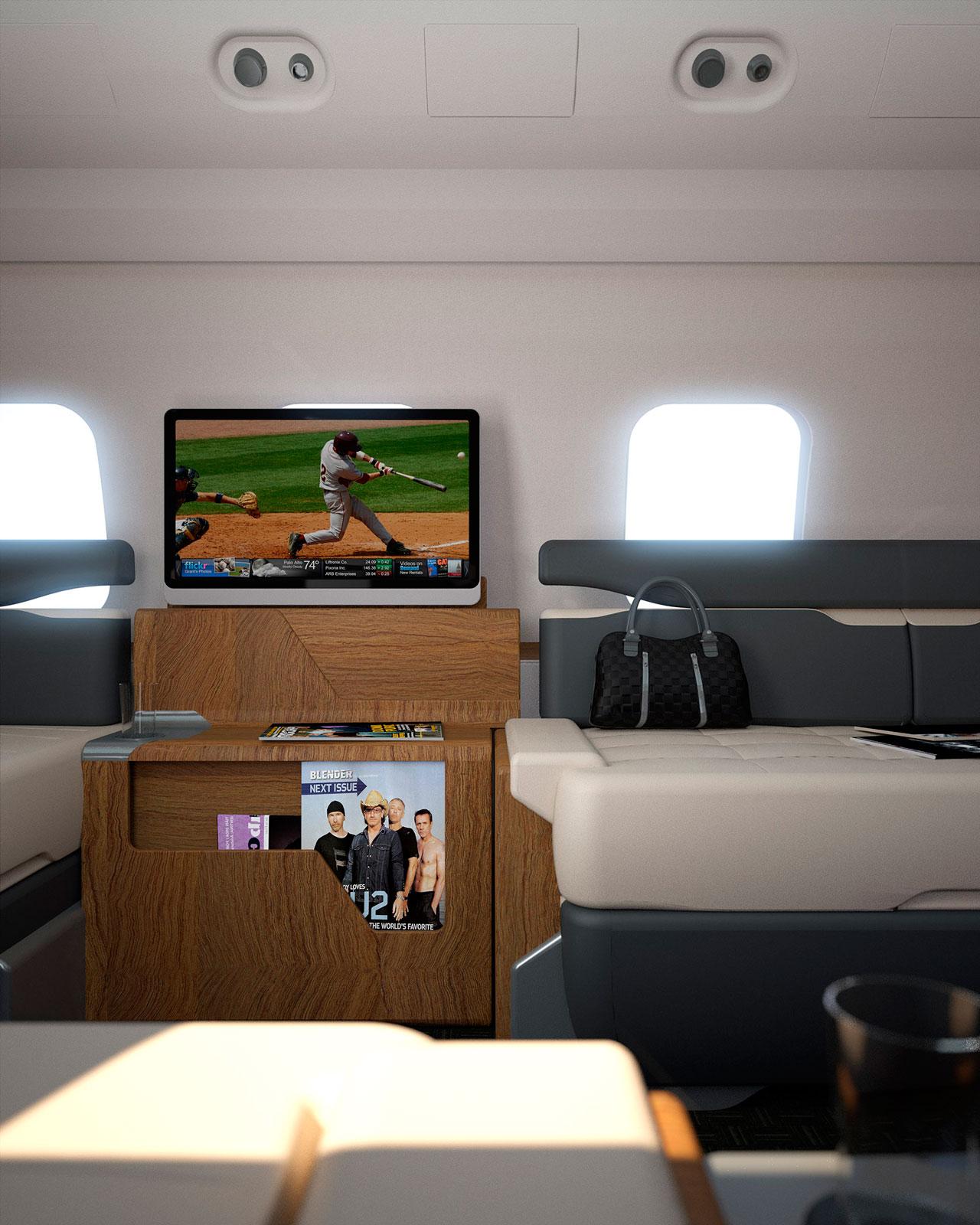interiores 3D diseño avión