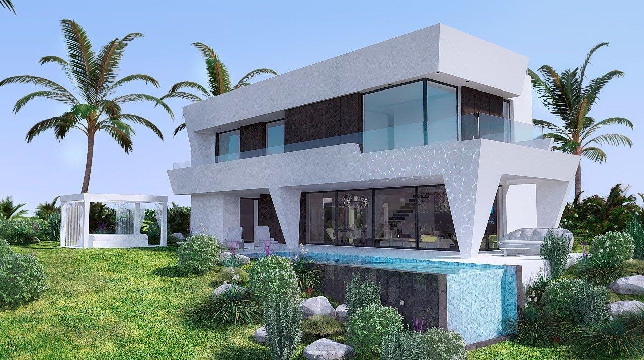 Infografía 3D Marbella piscina