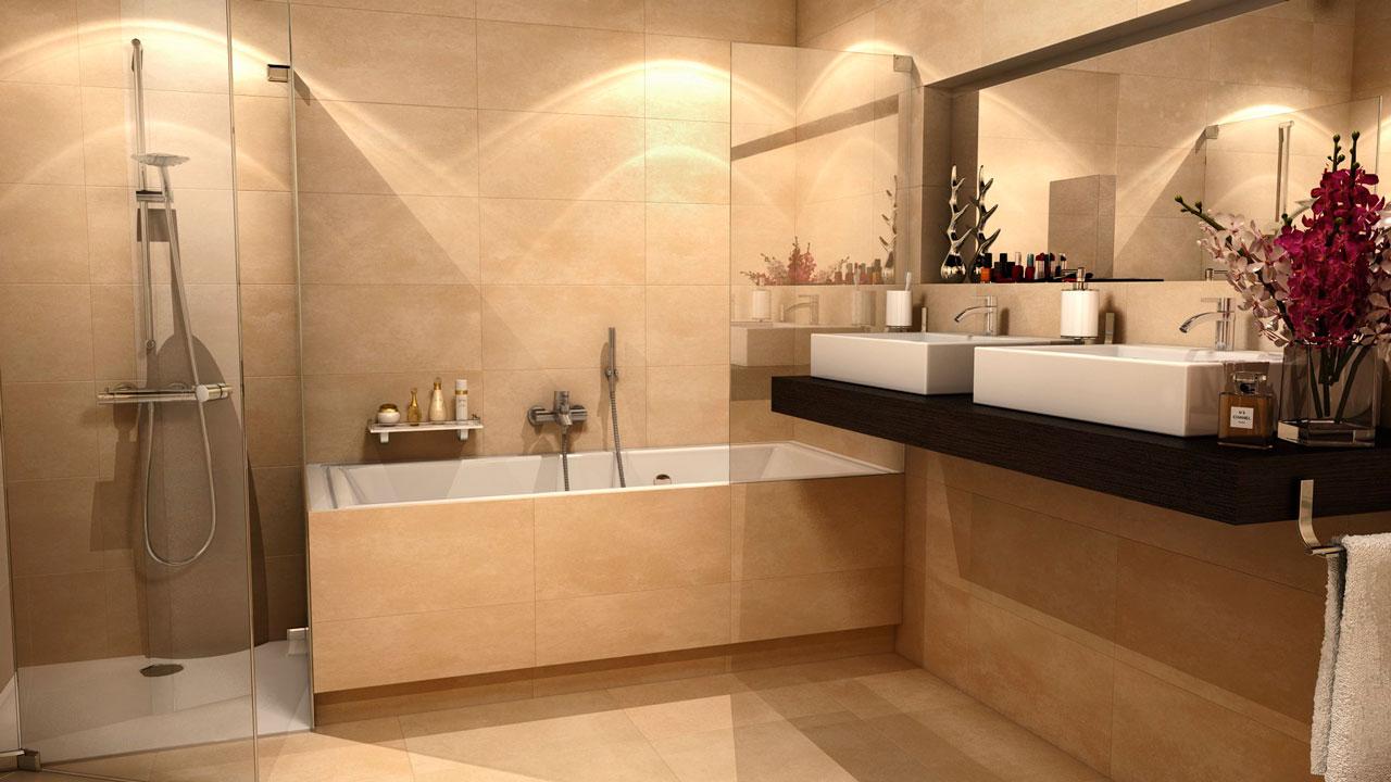 Infografia 3D interior baño