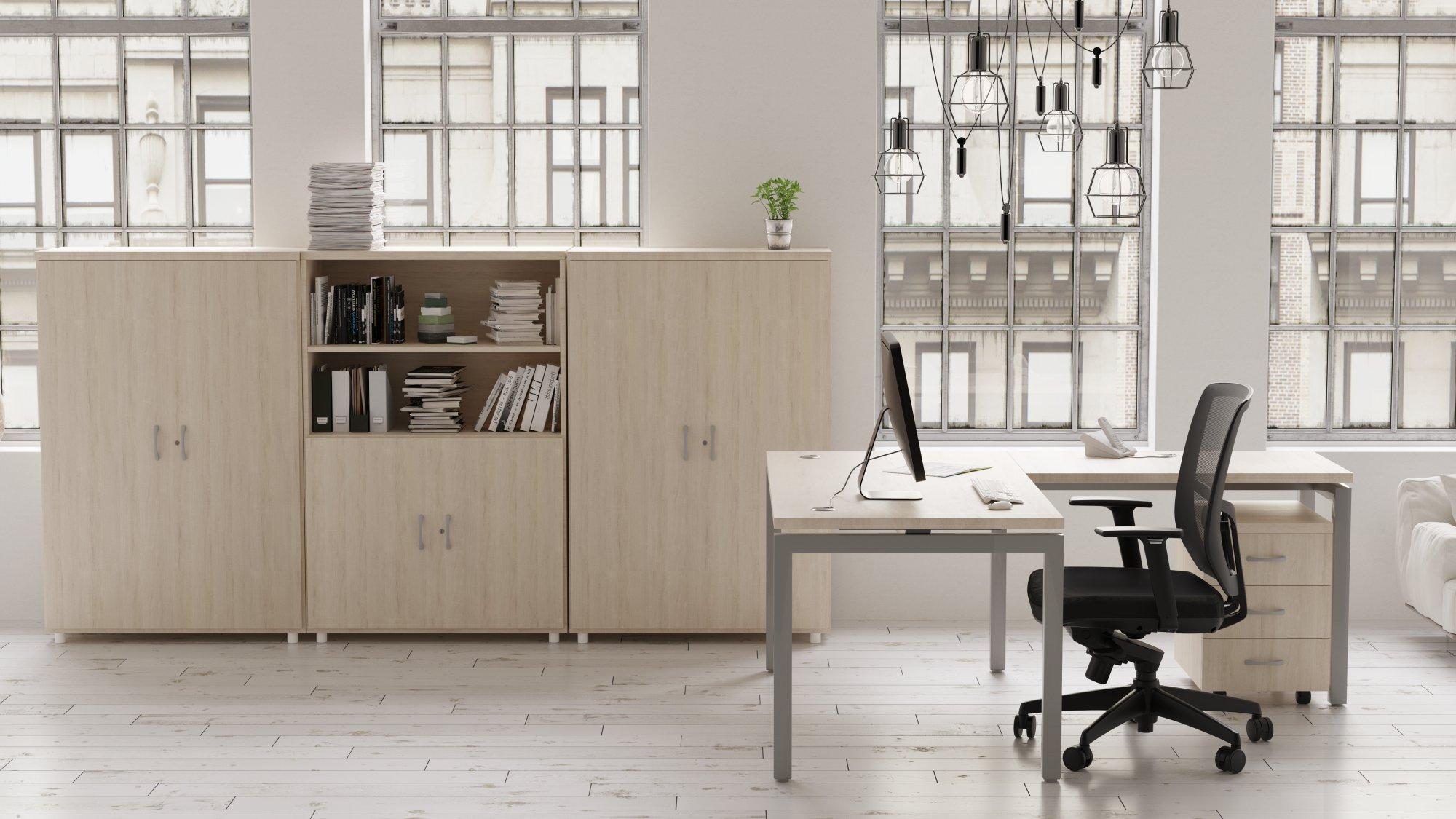 Infografías 3D  mobiliario oficina