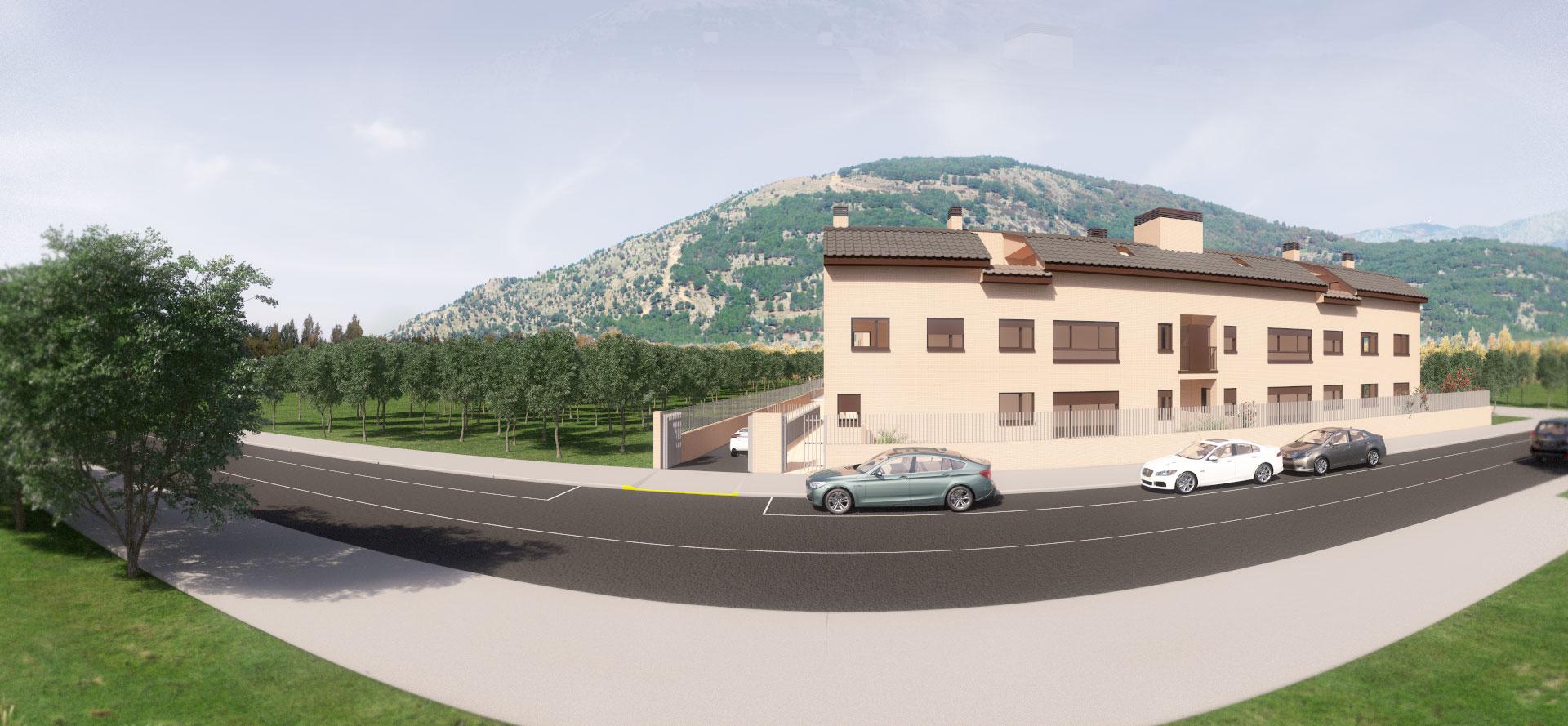 Infografía 3D panorámica fachada