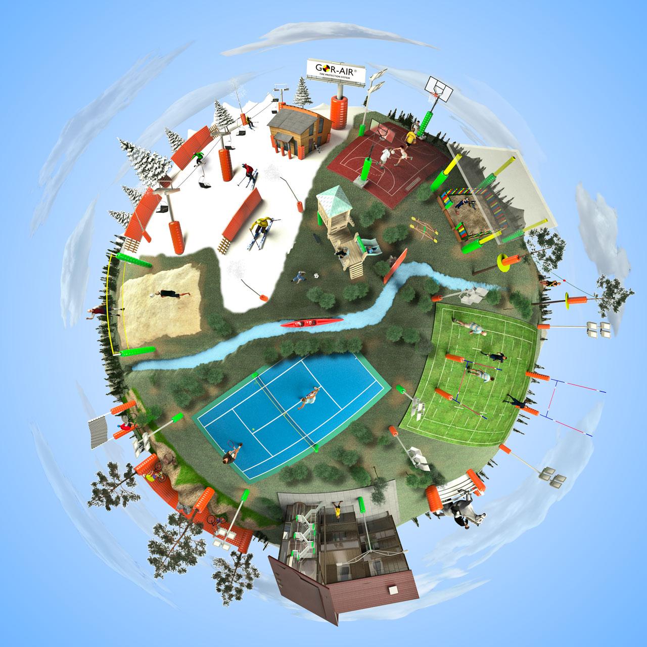 Infografía 3D para gorair