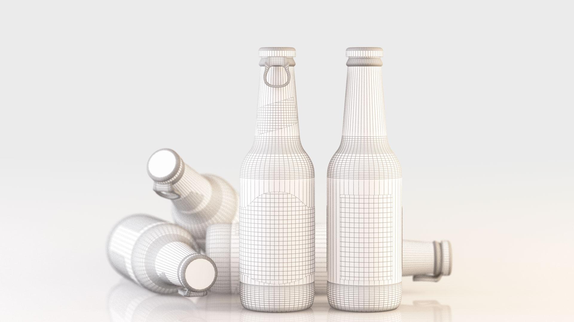 Render cervezas en WireFrame