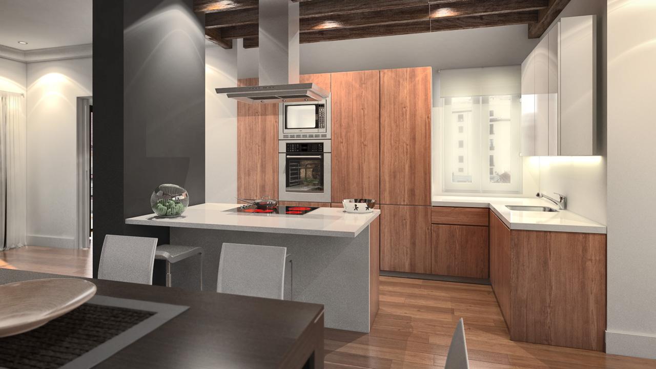 interiores 3D cocina