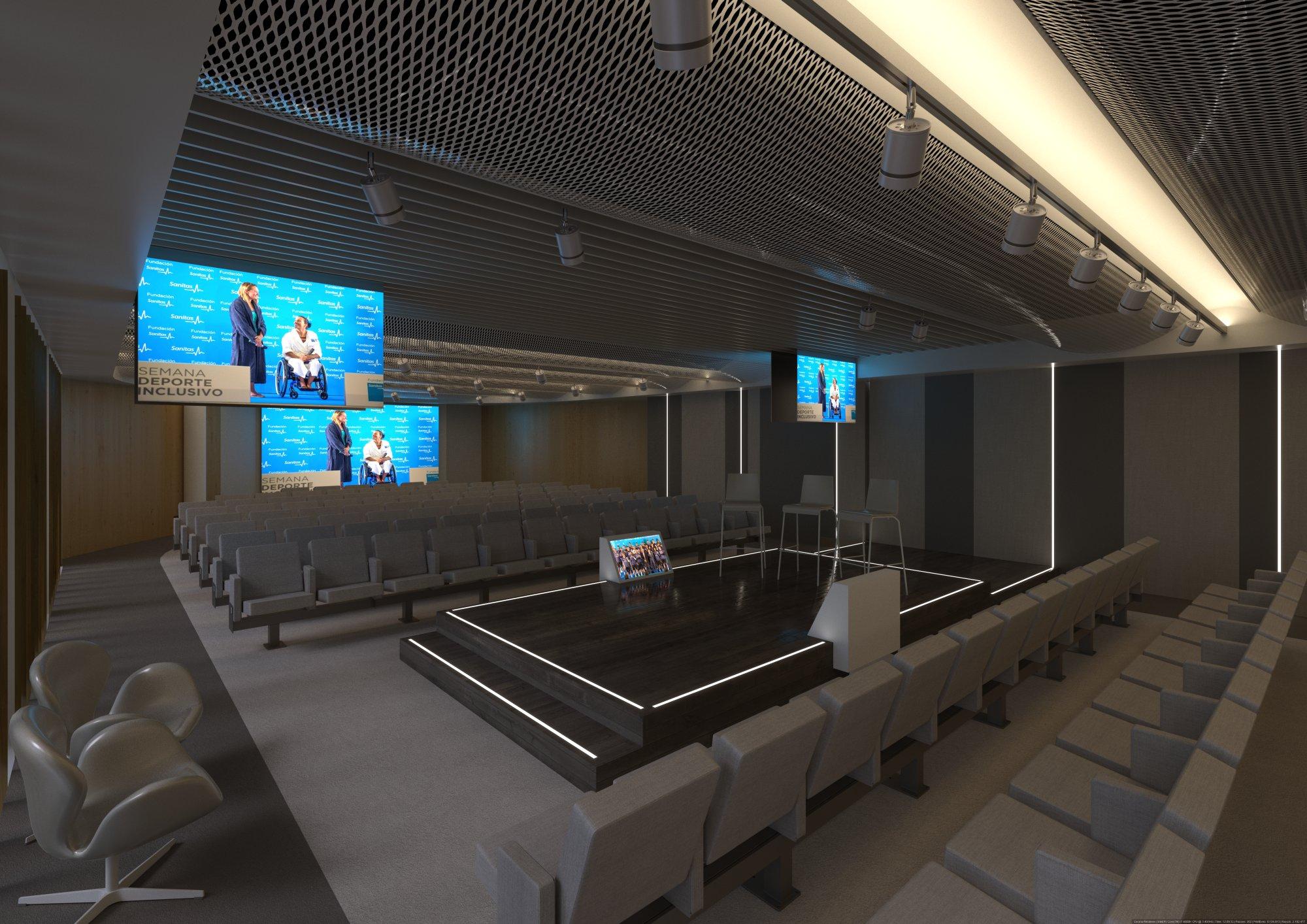 Infografía 3D Auditorio sala 3