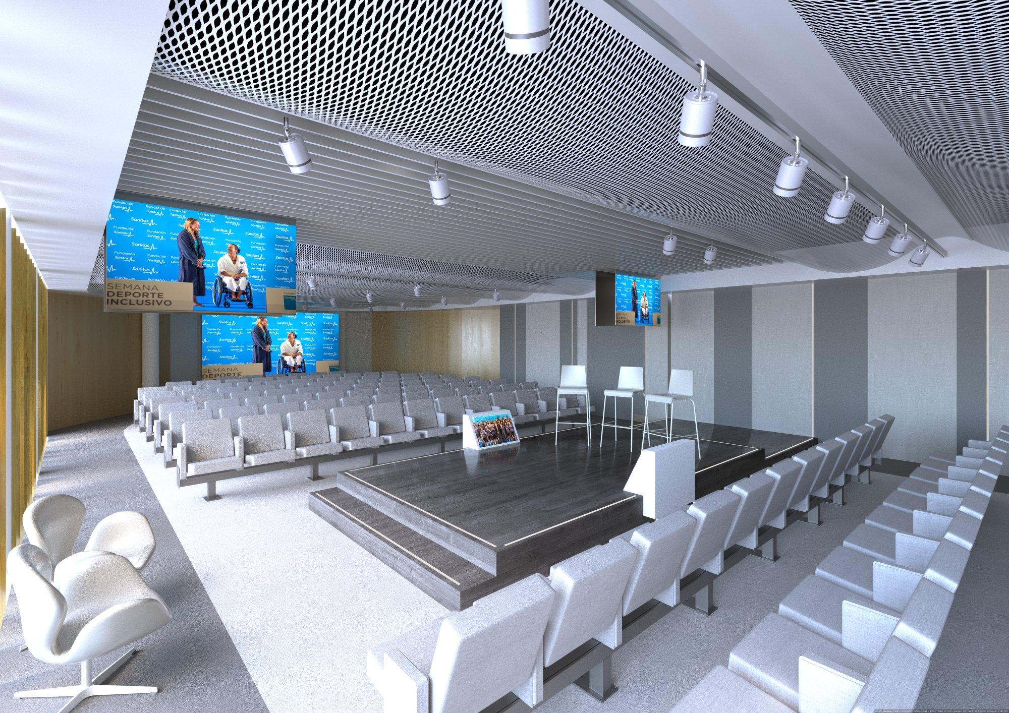 Infografía 3D Auditorio sala 5