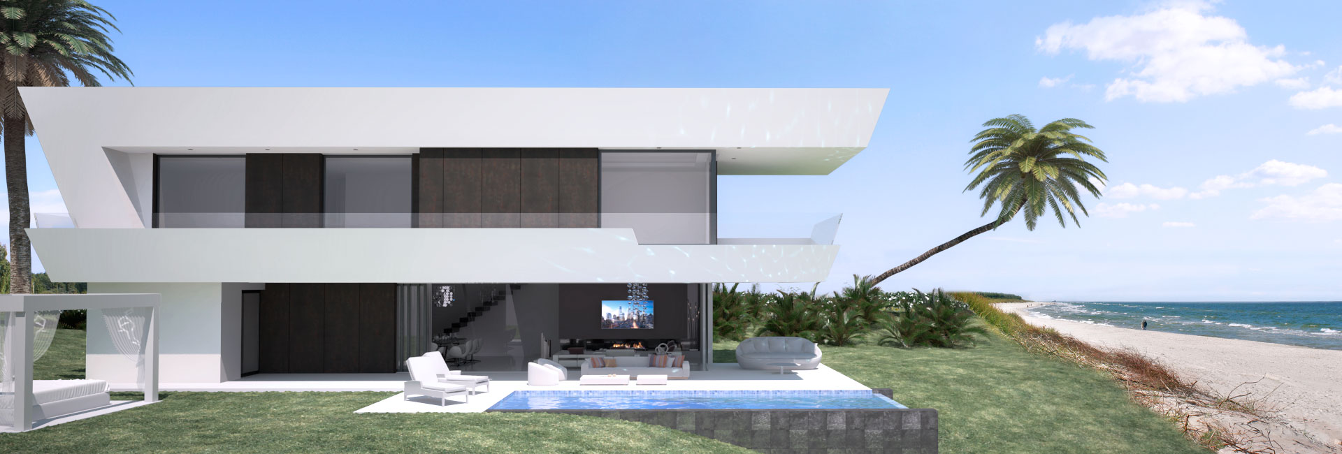 Infografía 3D Marbella playa
