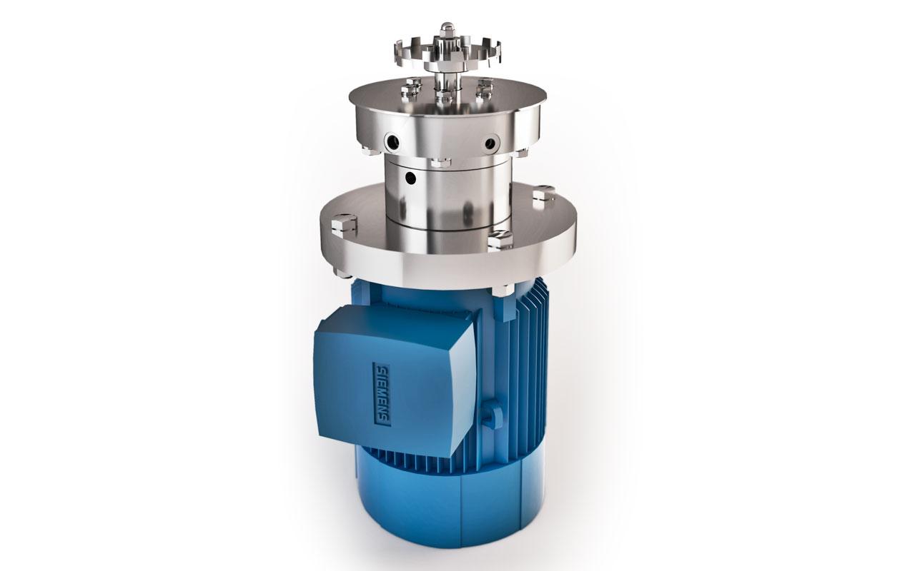 Infografía 3D motor bomba