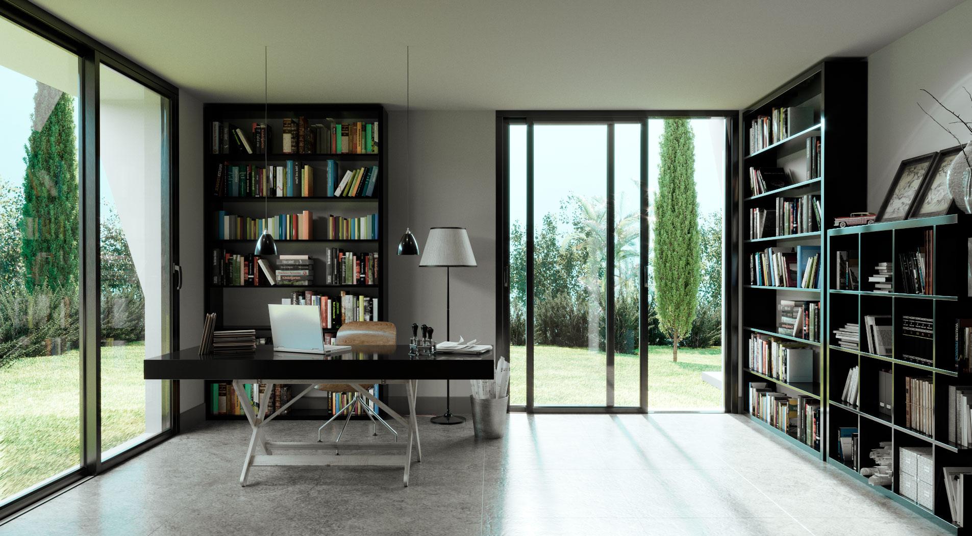muebles 3D interior despacho