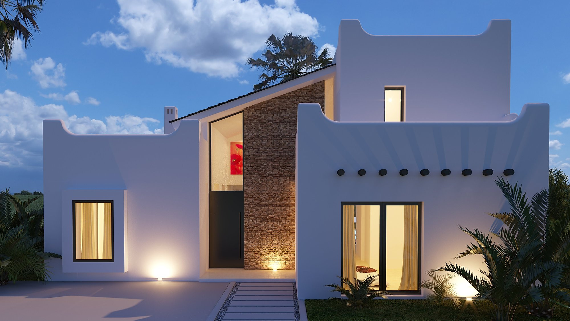 Arquitectura 3d villa