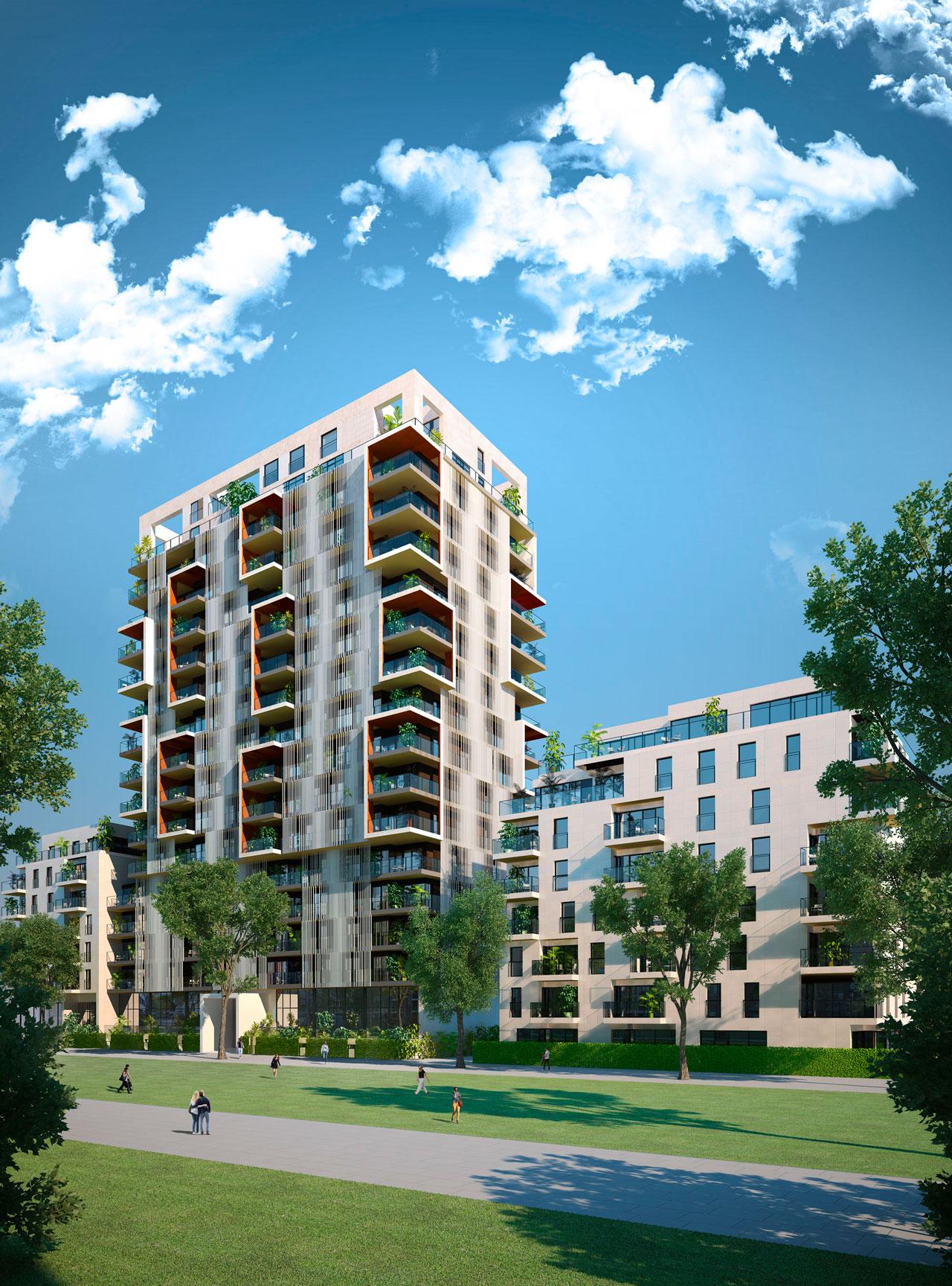Infografia 3D exterior apartamentos