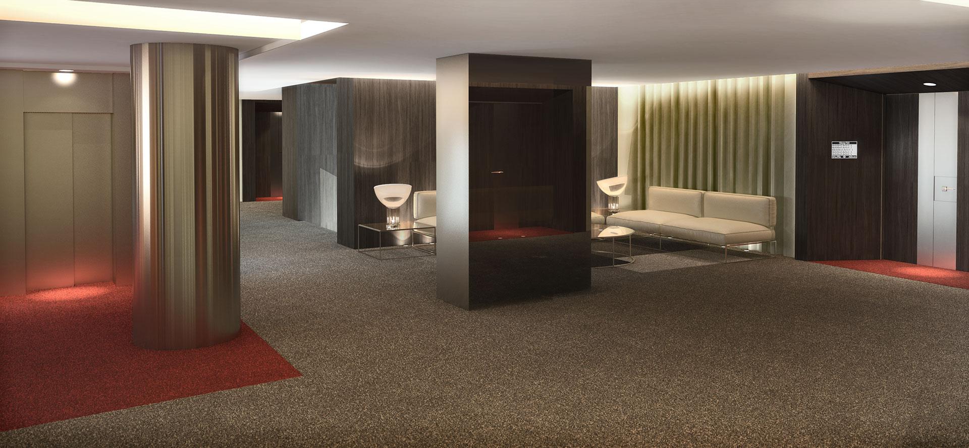 interiores 3D Hotel