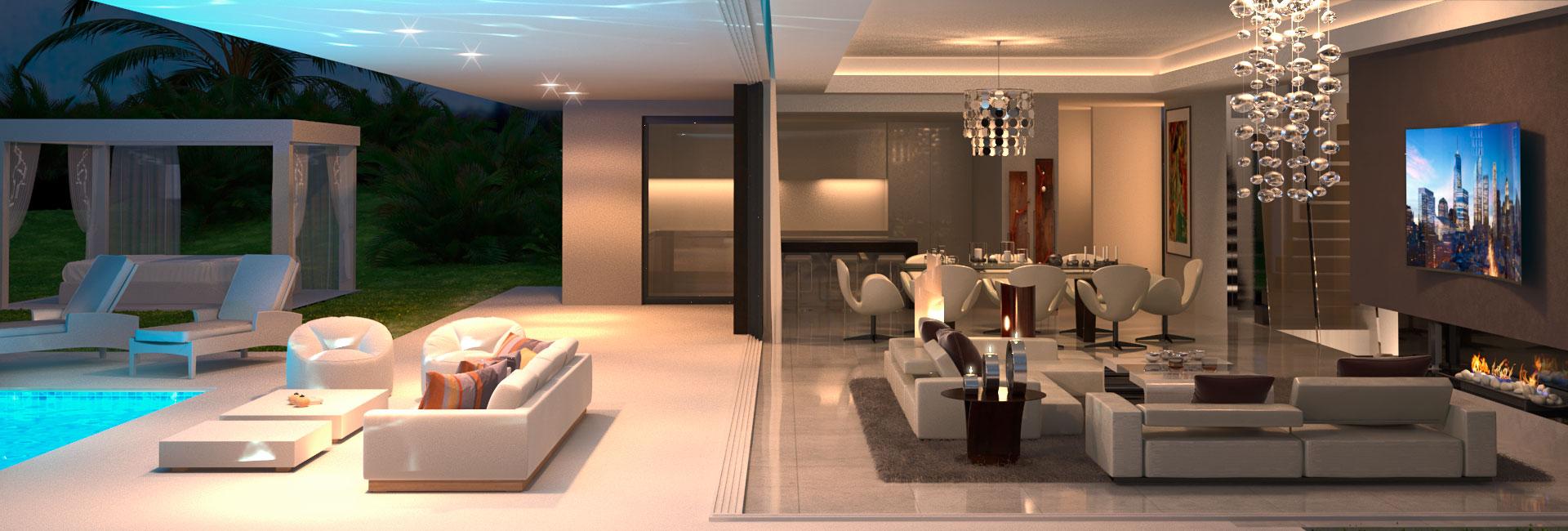 Infografía 3D Villa terraza