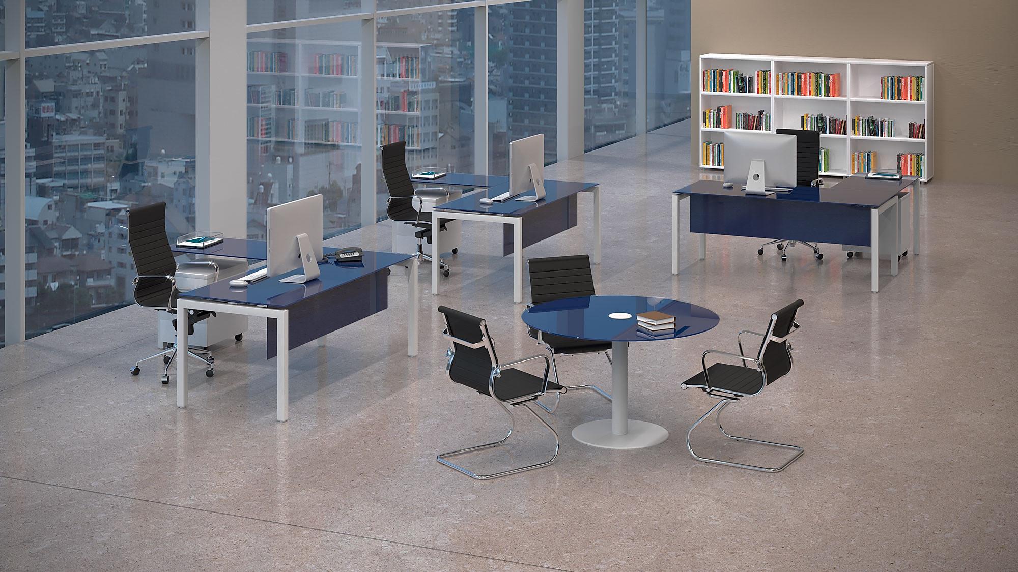infografía 3d ambiente oficina
