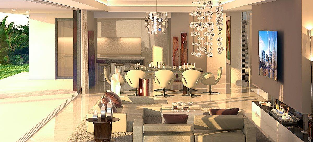 Infografía 3D villa lujo Marbella