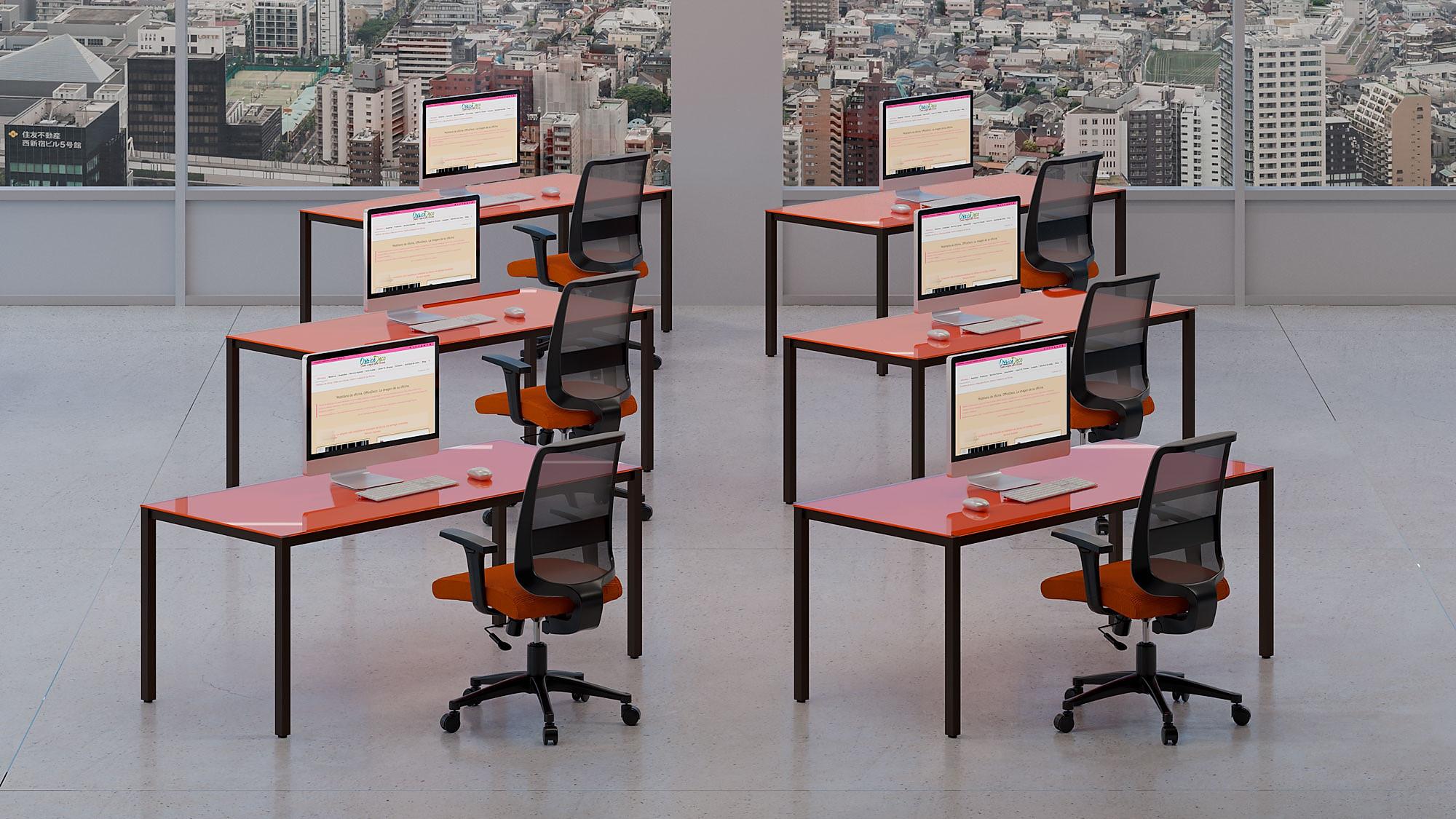 infografía 3d ambiente mueble oficina