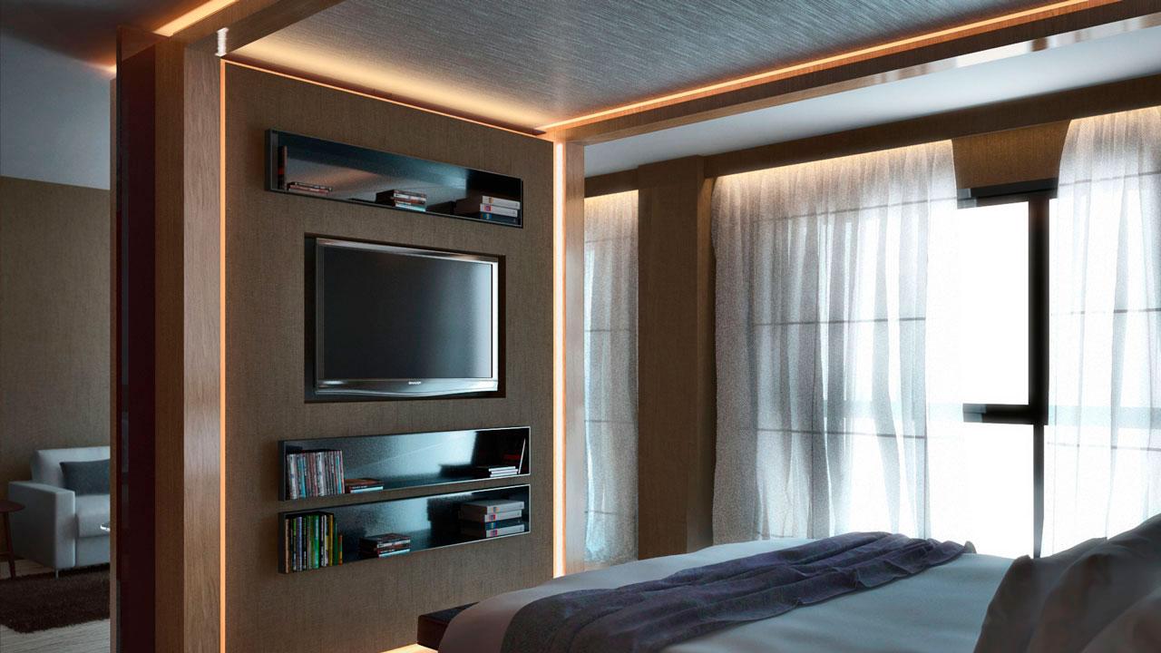 Infografía 3D suit hotel