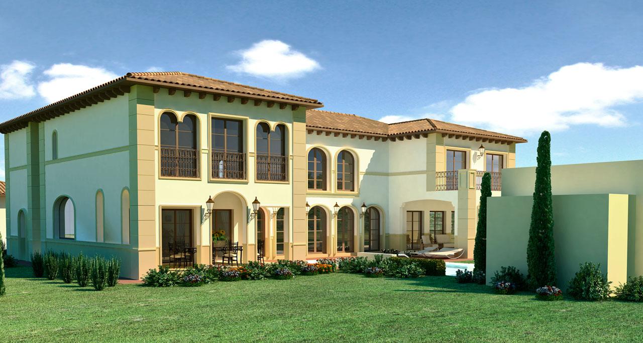 Infografía 3D Marbella jardín