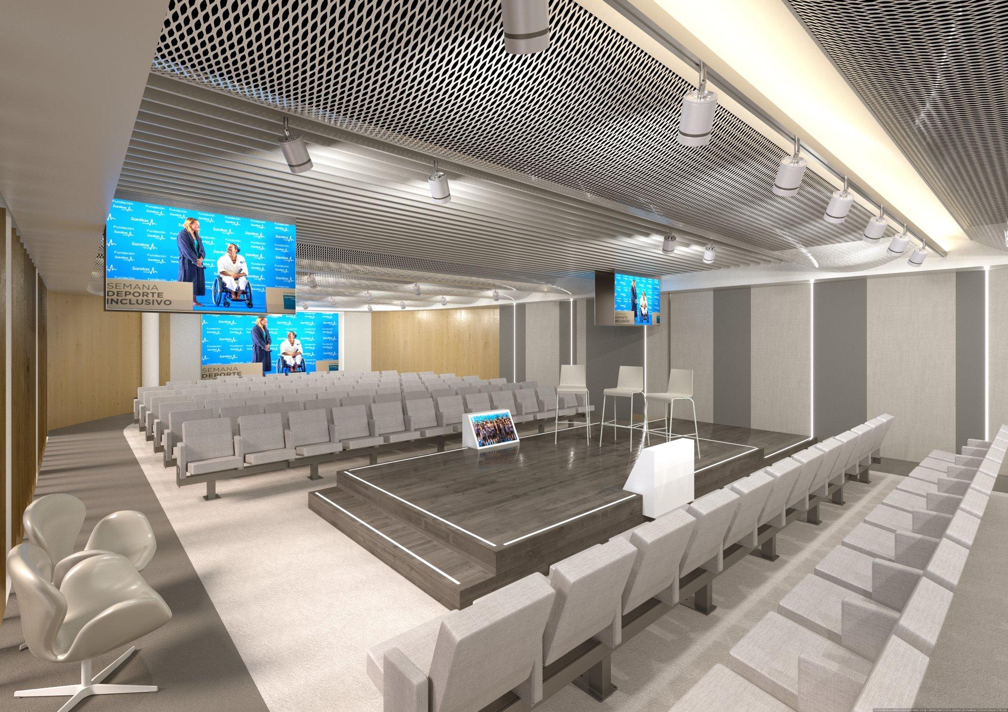Infografía 3D Auditorio sala 1