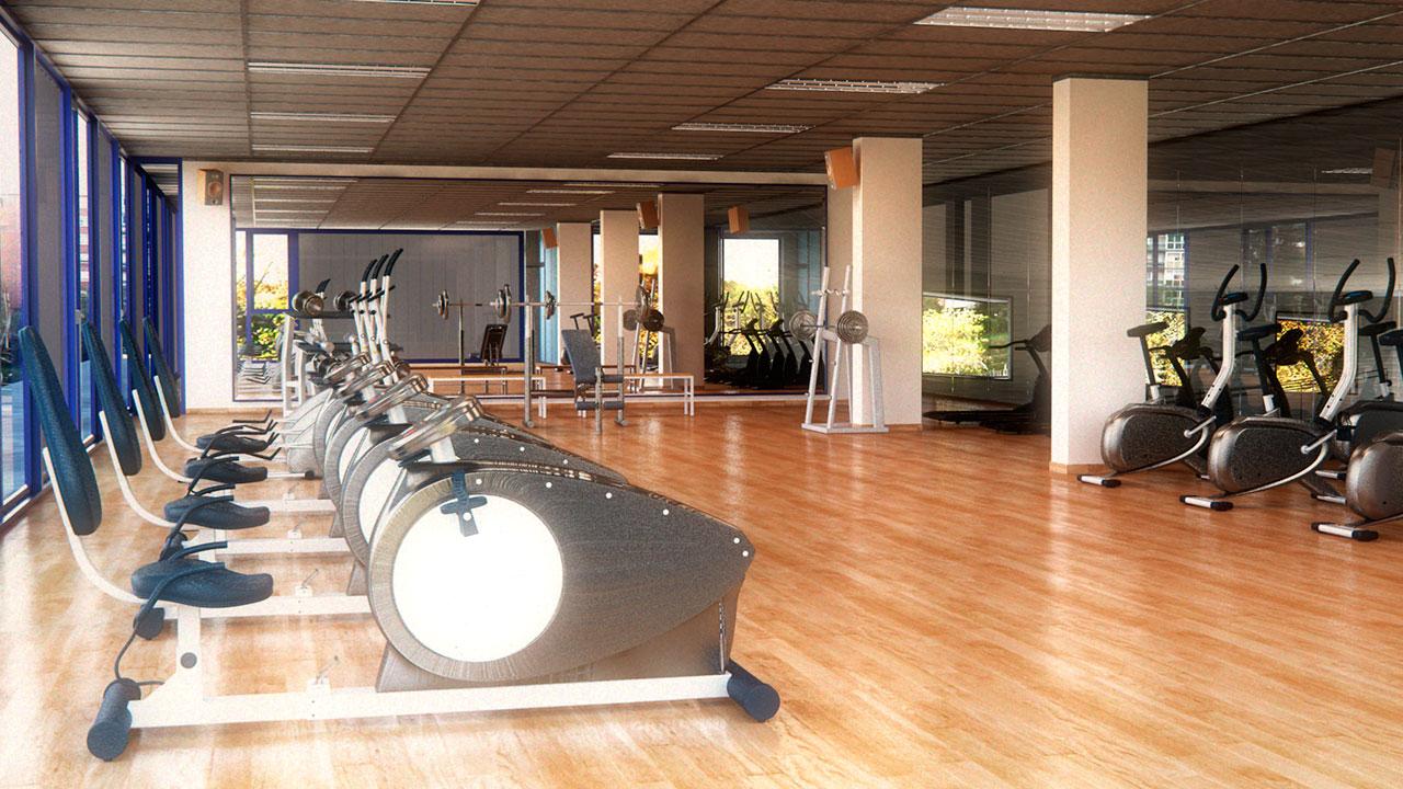 Infografía 3D gimnasio
