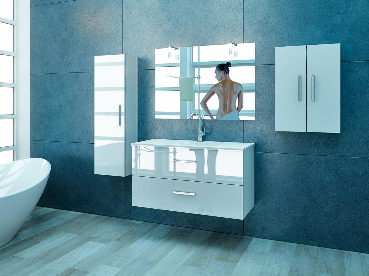 interiores 3D mueble baño