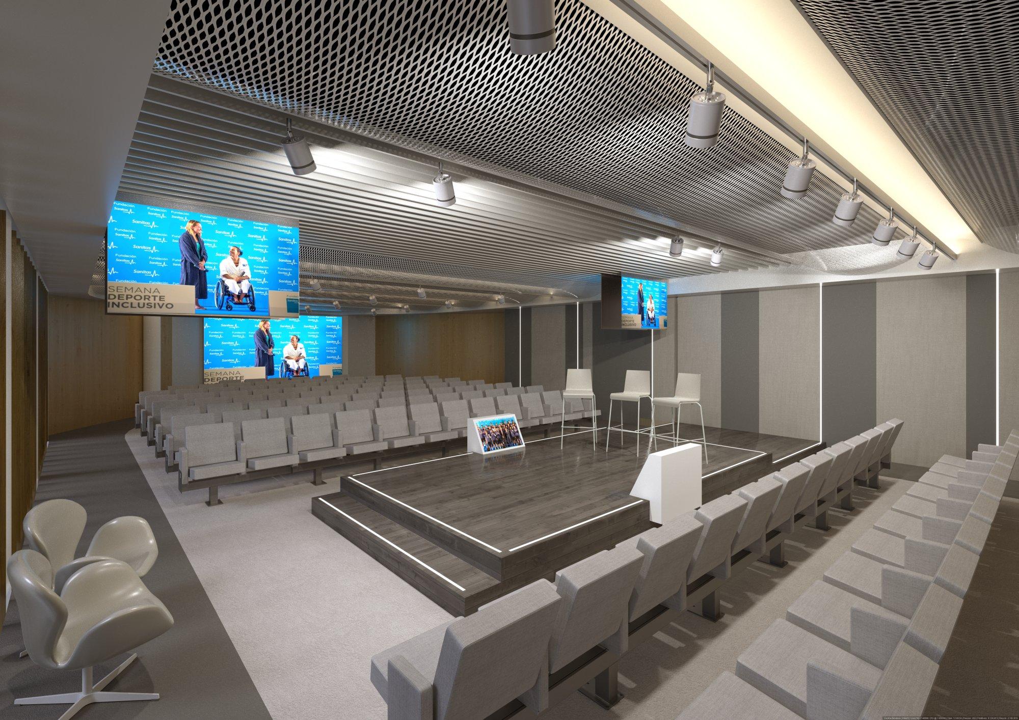 Infografías 3D Auditorio Sanitas