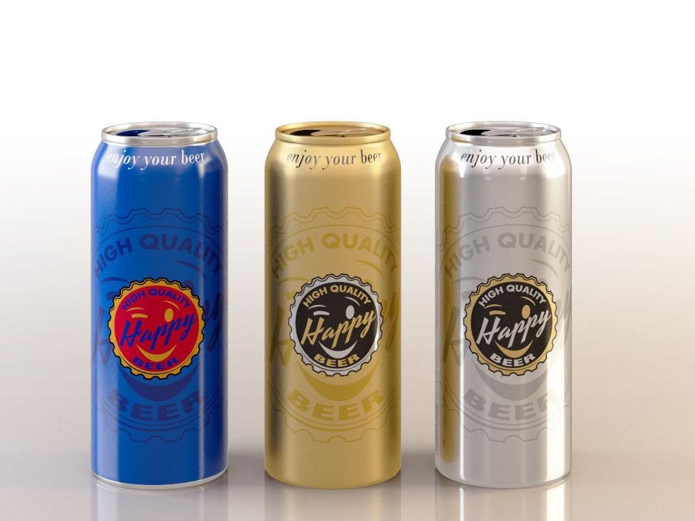 Render 3D Latas Cerveza