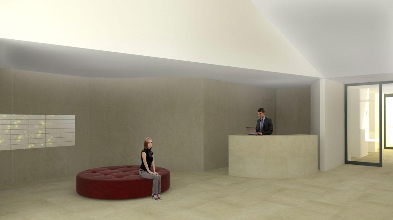 Infografía 3D entrada portal