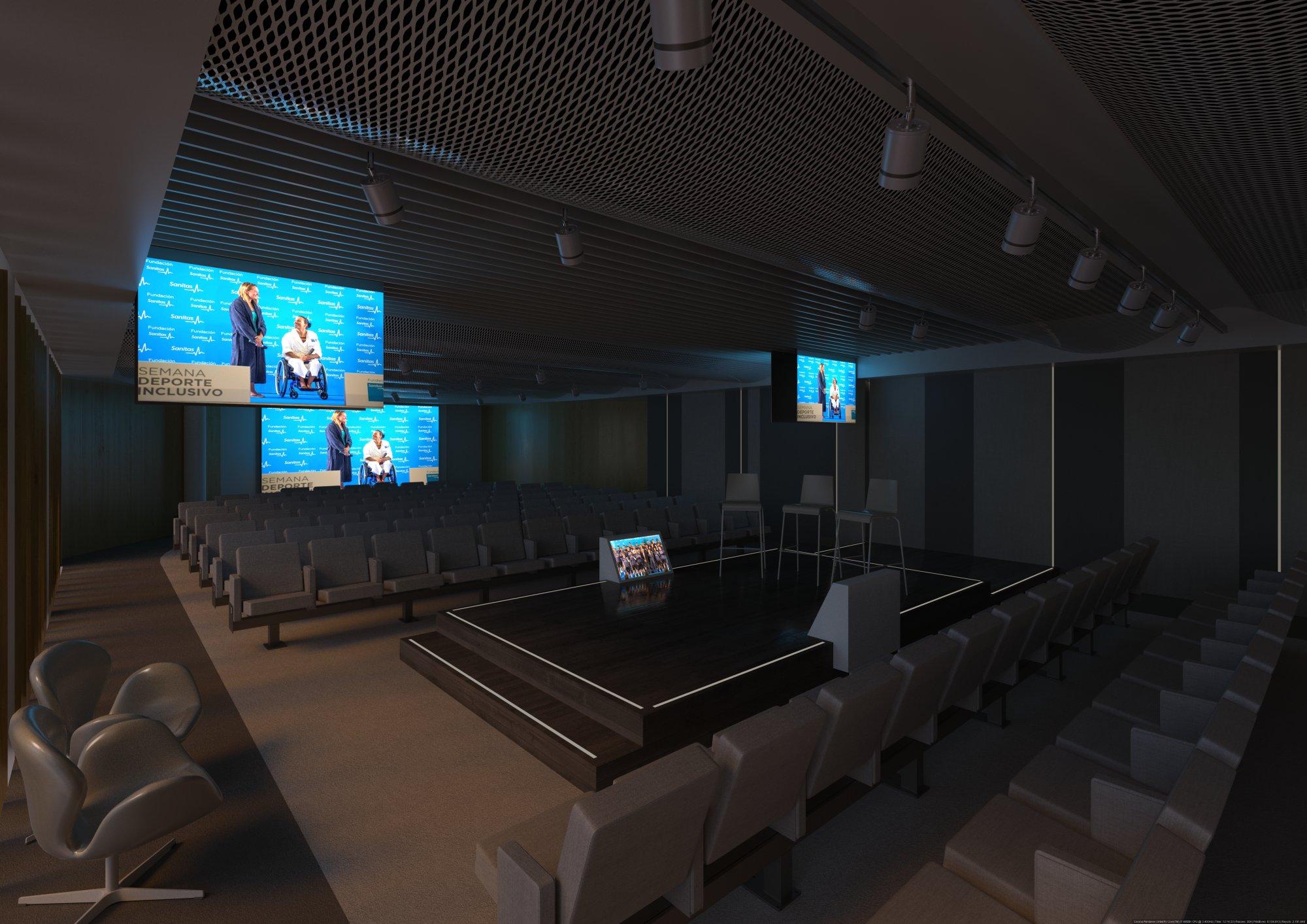 Infografía 3D Auditorio sala 4