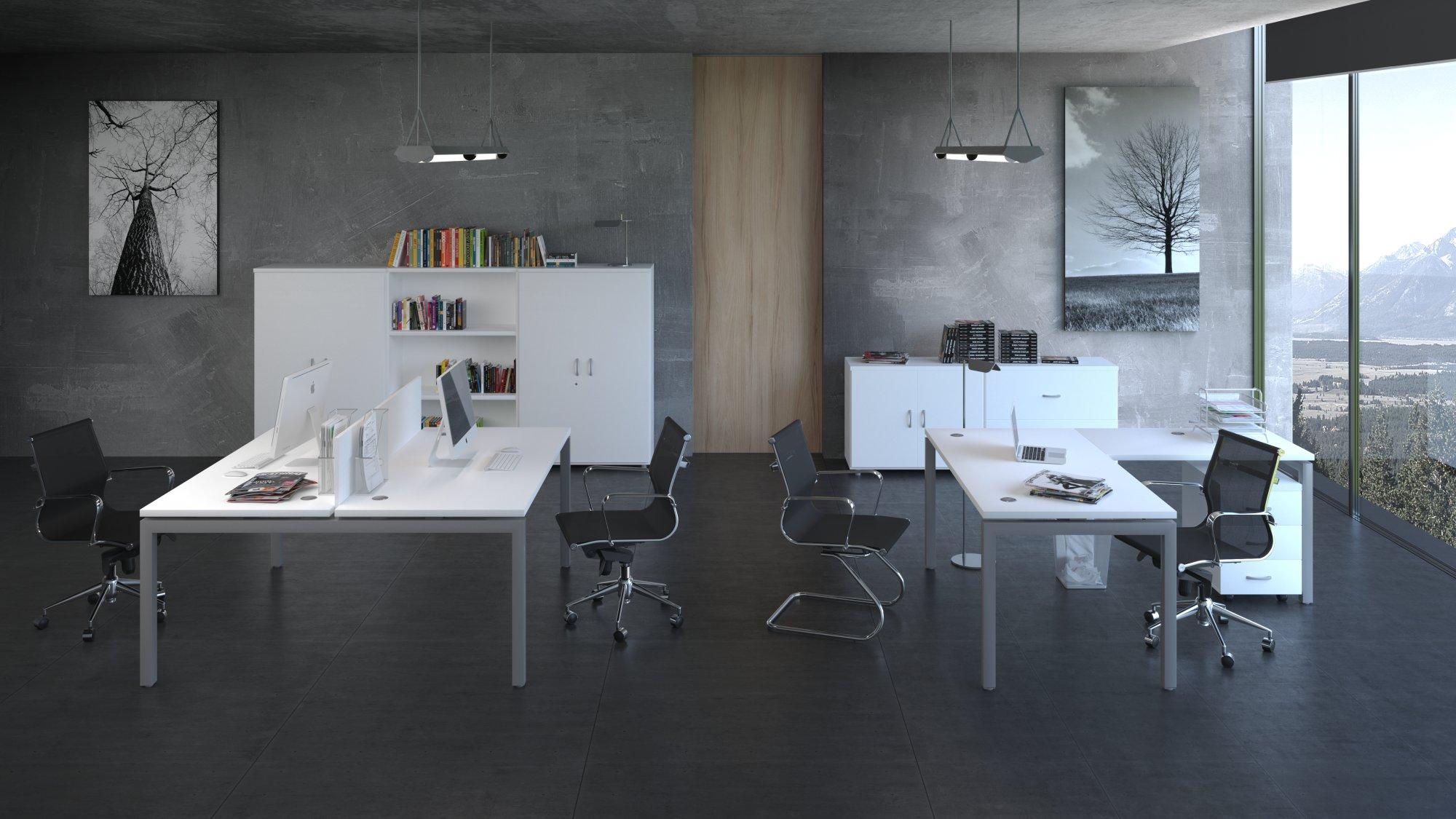 Infografías 3D mueble oficina