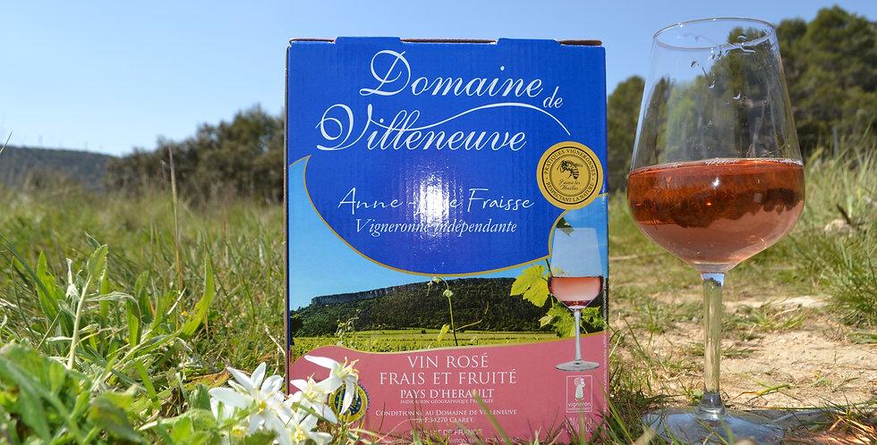 Bag-in-box Vin rosé IGP Pays d'Hérault 3 litres