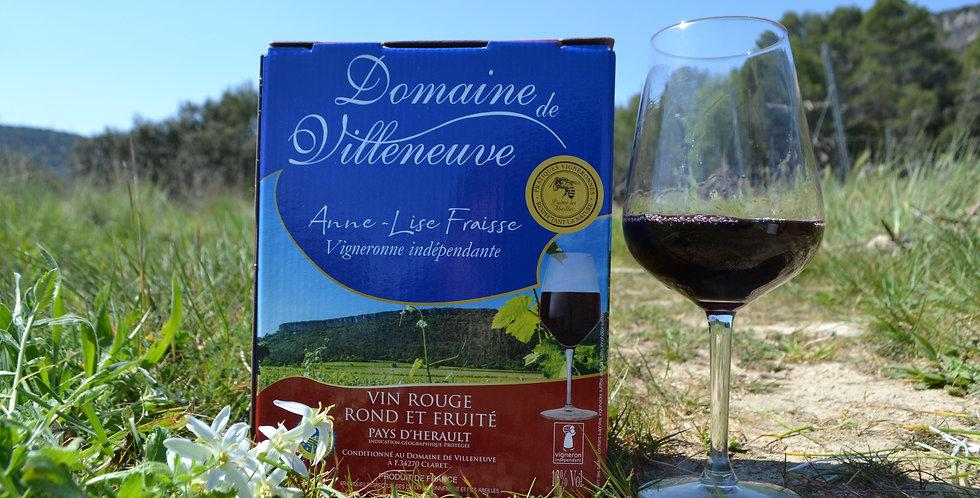 Bag-in-Box Vin rouge IGP Pays d'Hérault 3 litres