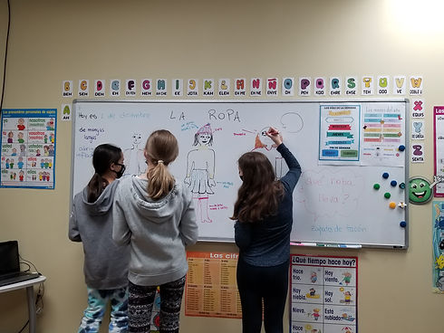 Teens Spanish presentation at Spanish4you!