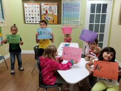 Kids presenting at Spanish4you!
