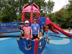 Kids on playground outside at Summer camp Spanish4you
