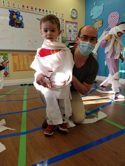 Spanish Pre-School Class - son and dad