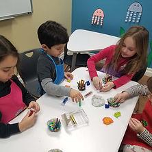 Kids doing crafts together