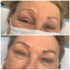 Old PMU coverUp (Not my Work) with Microblading with Shading