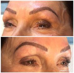 Microblading with minimal shading over old pmu (not my work)