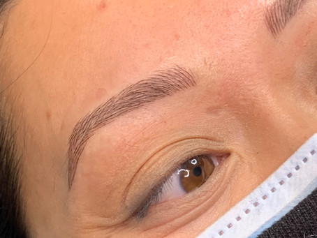 Microblading, Microblading with shading and Ombre Brow