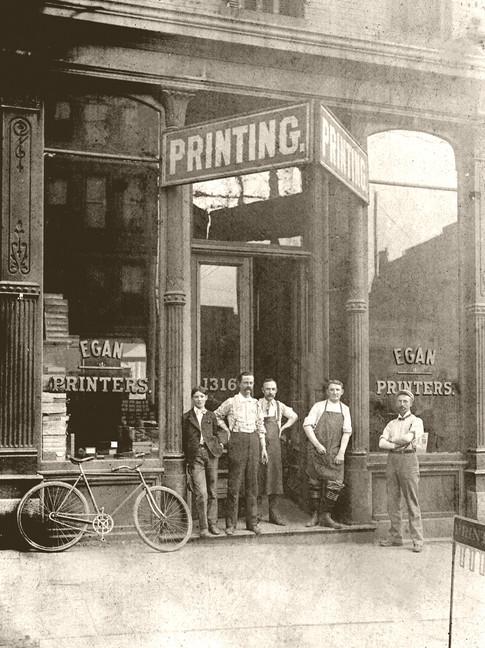 Egan Printing about 1899