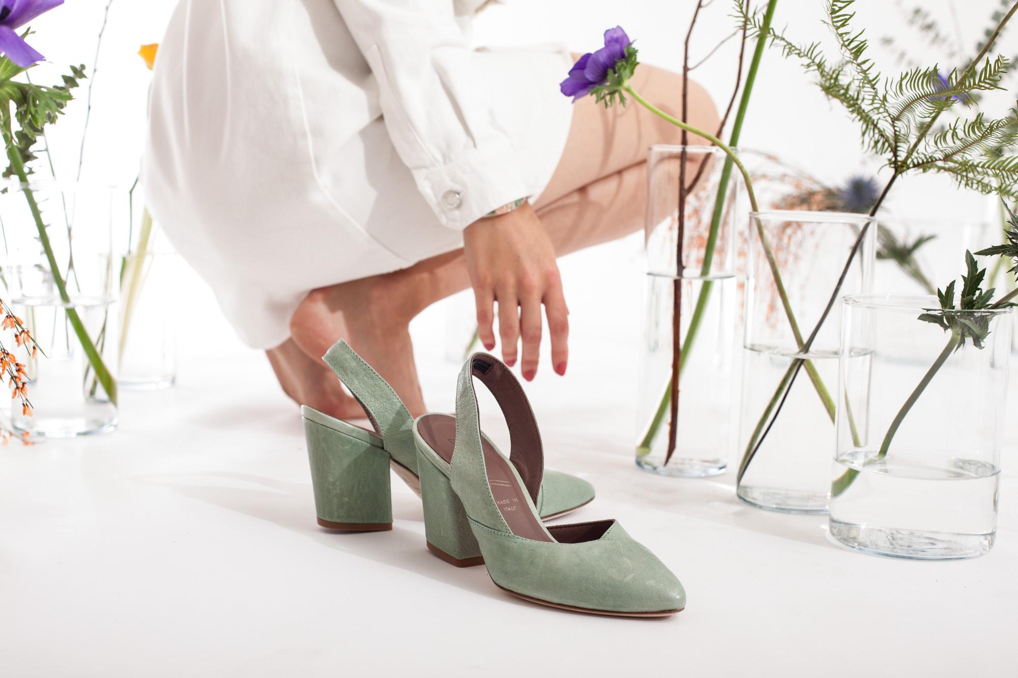 6807 scarpa in pelle con tacco