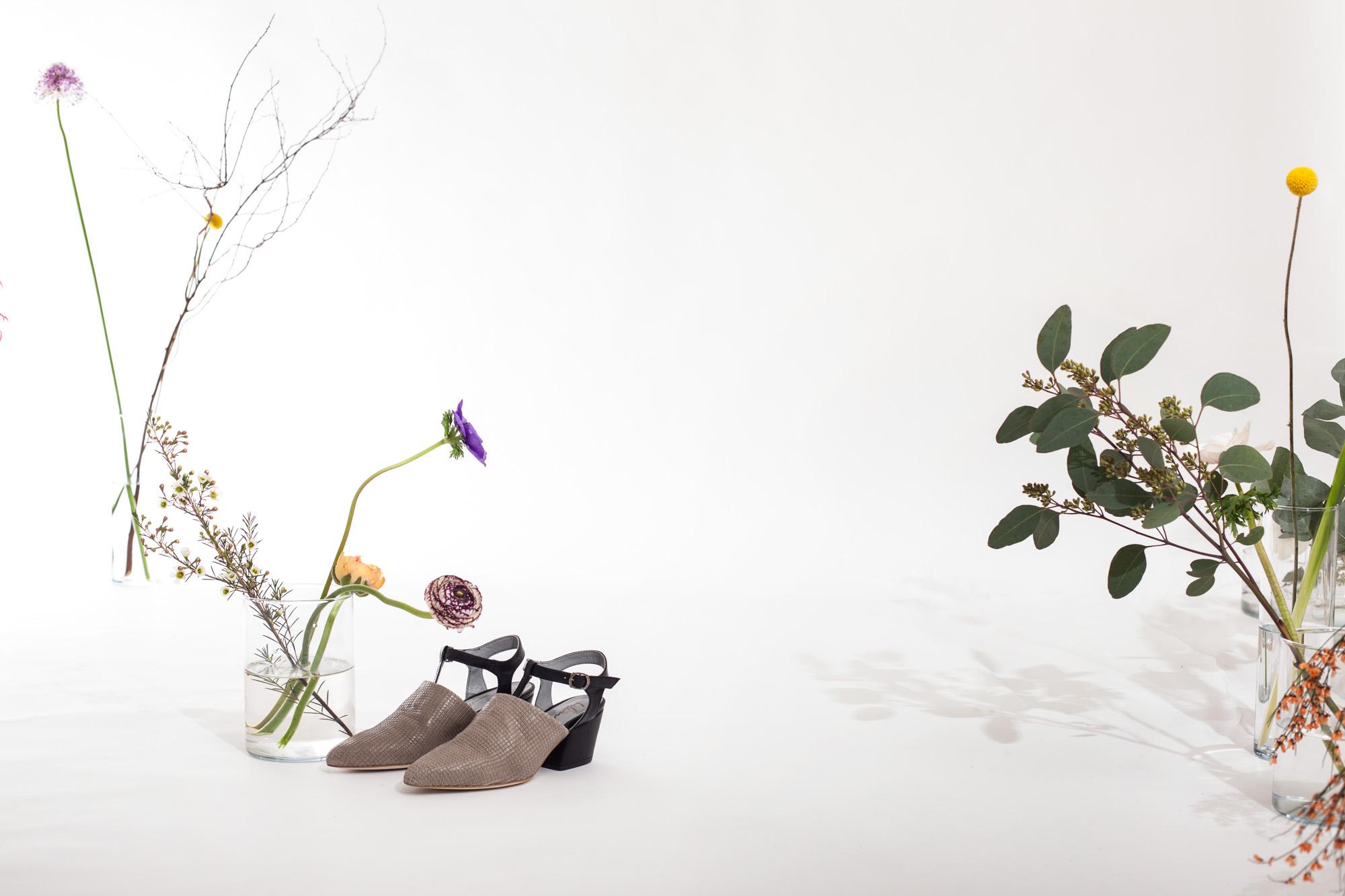 6801 scarpa T-bar in pelle con tacco