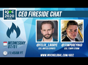 Felix is speaking at the IGEC CEO Fireside chat