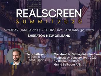 Join Felix LaHaye At The Realscreen Summit 2020!