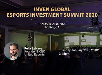 Felix LaHaye speaking at Inven Global Esports Investment Summit 2020