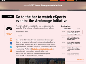 Go to the bar to watch eSports events: the Archmage initiative