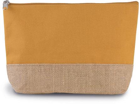 KI0276 - Pochette en toiles de coton et jute
