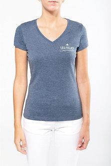 """T-shirt col V manches courtes """"Les Filles Lorraines"""""""